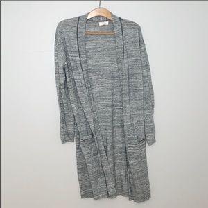 Sun & Shadow grey long cardigan